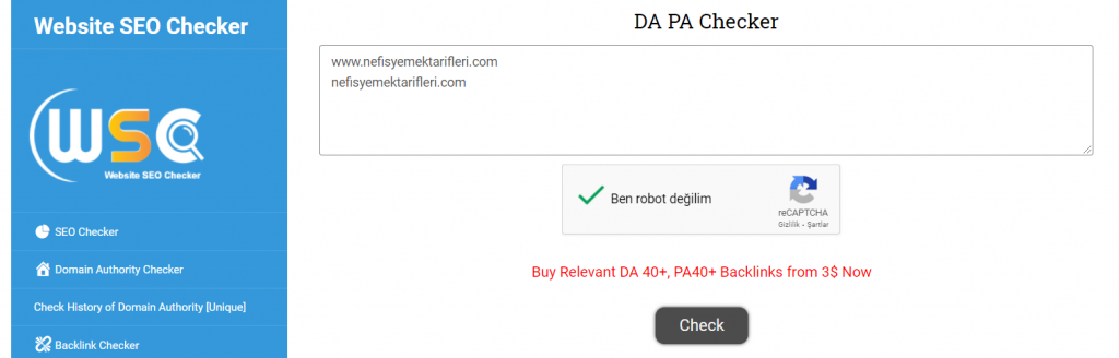DA PA Rank Checker