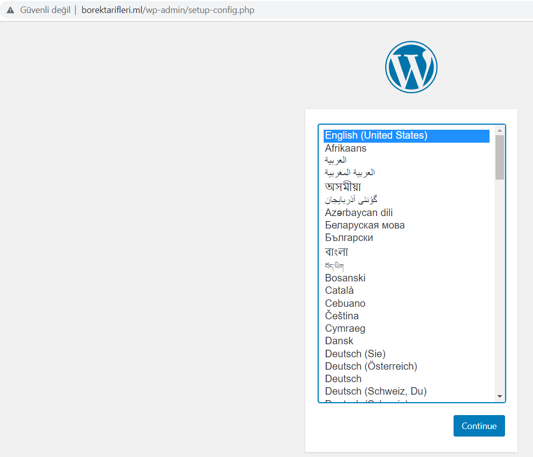 Wordpress Kurulum - 2