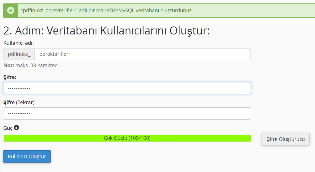 Wordpress Veritabanı Kurulumu - 3